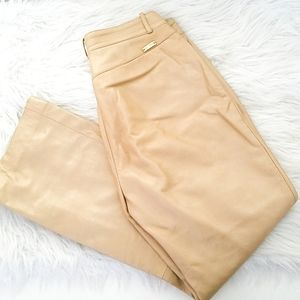 ST. JOHN SPORT Leather Gold Pant Size 6
